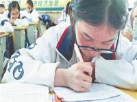 泉州:年级越高近视学生越多 高中一个班不足1